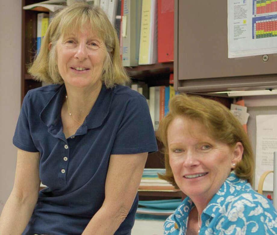 Miller-Driscoll School nurses, from left, Loretta Ertl and Barbara Schum. Contributed photo. / AndoPhotography © 2011