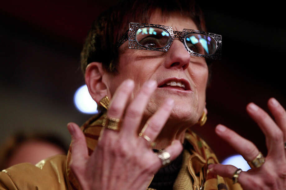 Rep. Rosa DeLauro, D-Conn. speaks about birth control and contraceptive coverage, Thursday, Feb. 9, 2012, during a news conference on Capitol Hill in Washington. (AP Photo/Charles Dharapak) / AP