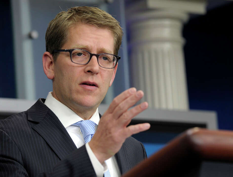 White House Press Secretary Jay Carney speaks during the daily briefing at the White House in Washington, Wednesday, Jan. 18, 2012. (AP Photo/Susan Walsh) / AP