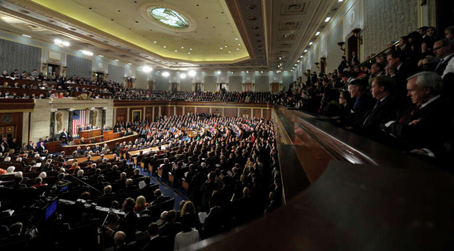 AP Photo/Susan WalshIn this Jan. 24, 2012, file photo President Barack Obama delivers his State of the Union address on Capitol Hill in Washington. / AP