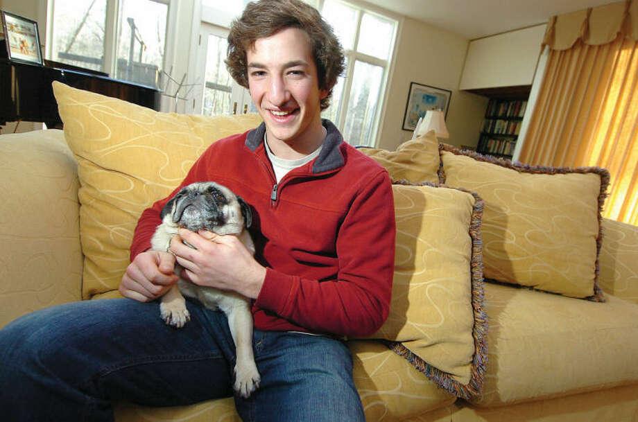Hour Photo Alex von Kleydorff; Wiltons Mark Malburg and his Pug Cuddles