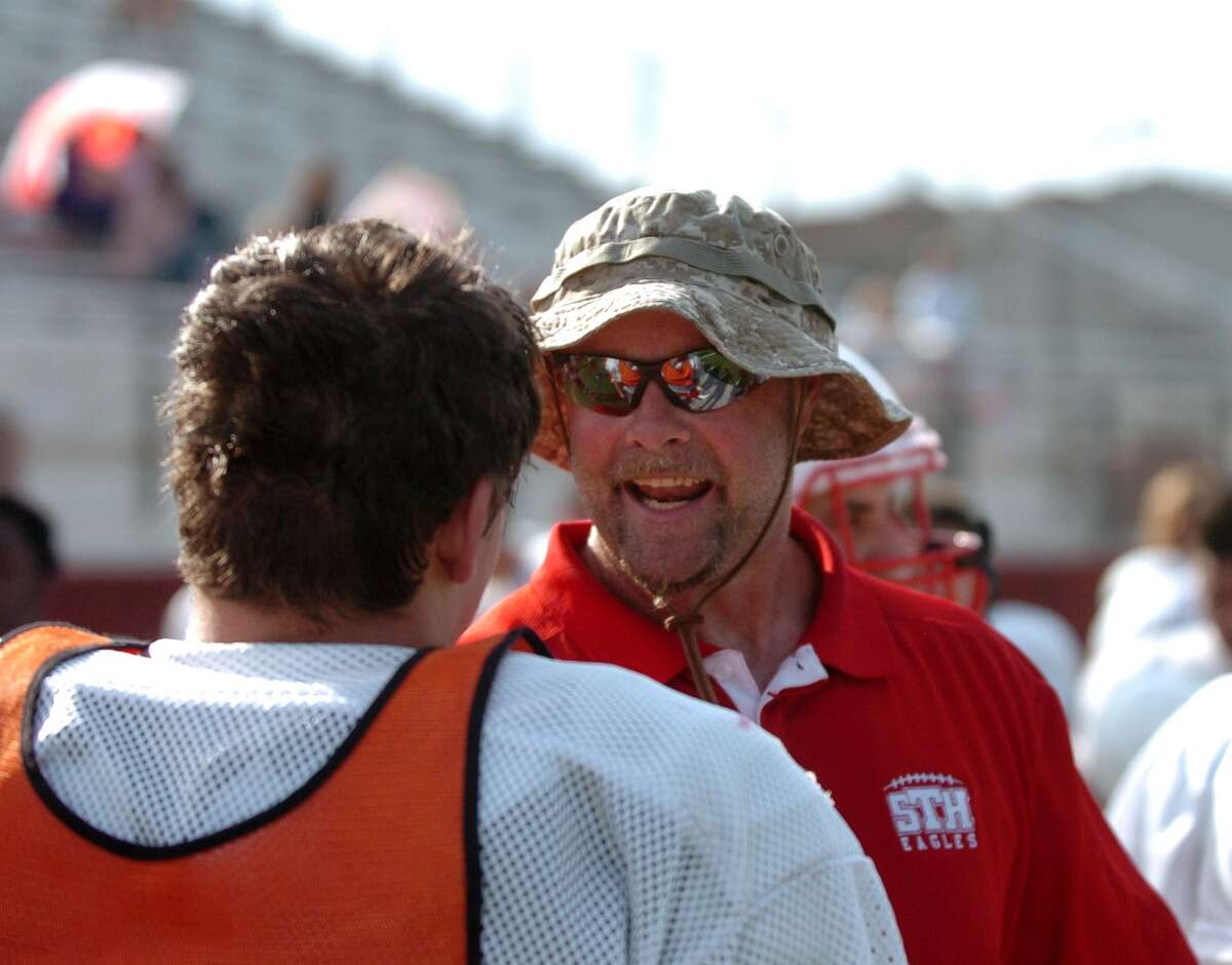 St. Thomas football coach Tim Fitzpatrick is using his vacation to interview candidates for several vacant positions on his staff.