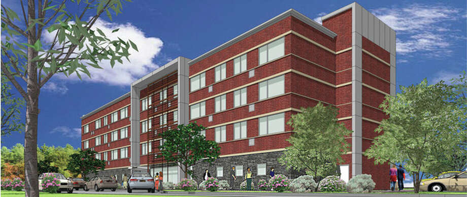 A two-year-old rendering of a hotel planned for the Wilton portion of i.Park. Contributed image.