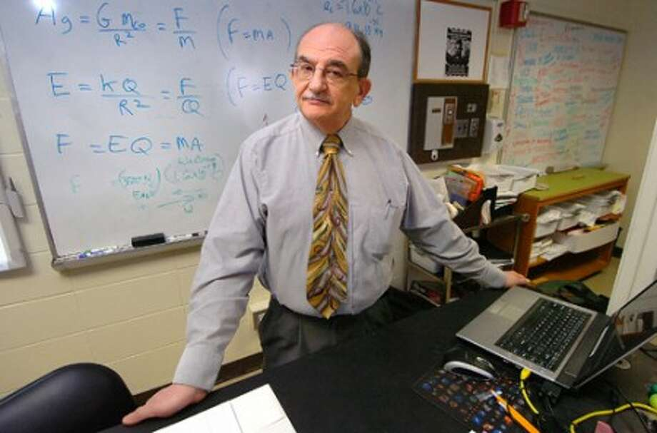 Photo/Alex von Kleydorff. Westhill High School teacher Joe Aibinder has been awarded a NASA Endeavor Fellowship.
