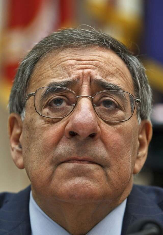 Defense Secretary Leon Panetta testifies on Capitol Hill in Washington, Thursday, April, 19, 2012, before the House Armed Services Committee hearing on recent developments with the crisis in Syria. (AP Photo/J. Scott Applewhite)