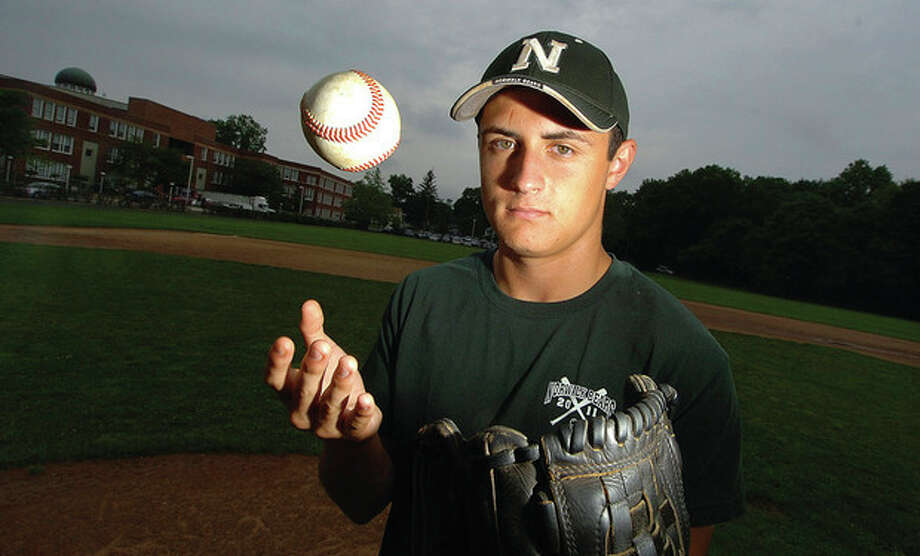 Hour Photo/Alex von Kleydorff Norwalk High senior James Cooksey has been selected as the MVP on The HourÕs All-Area baseball team. All Cooksey did this season was lead the area in wins with nine with a 1.12 ERA. He also batted over .400 / 2011 The Hour Newspapers