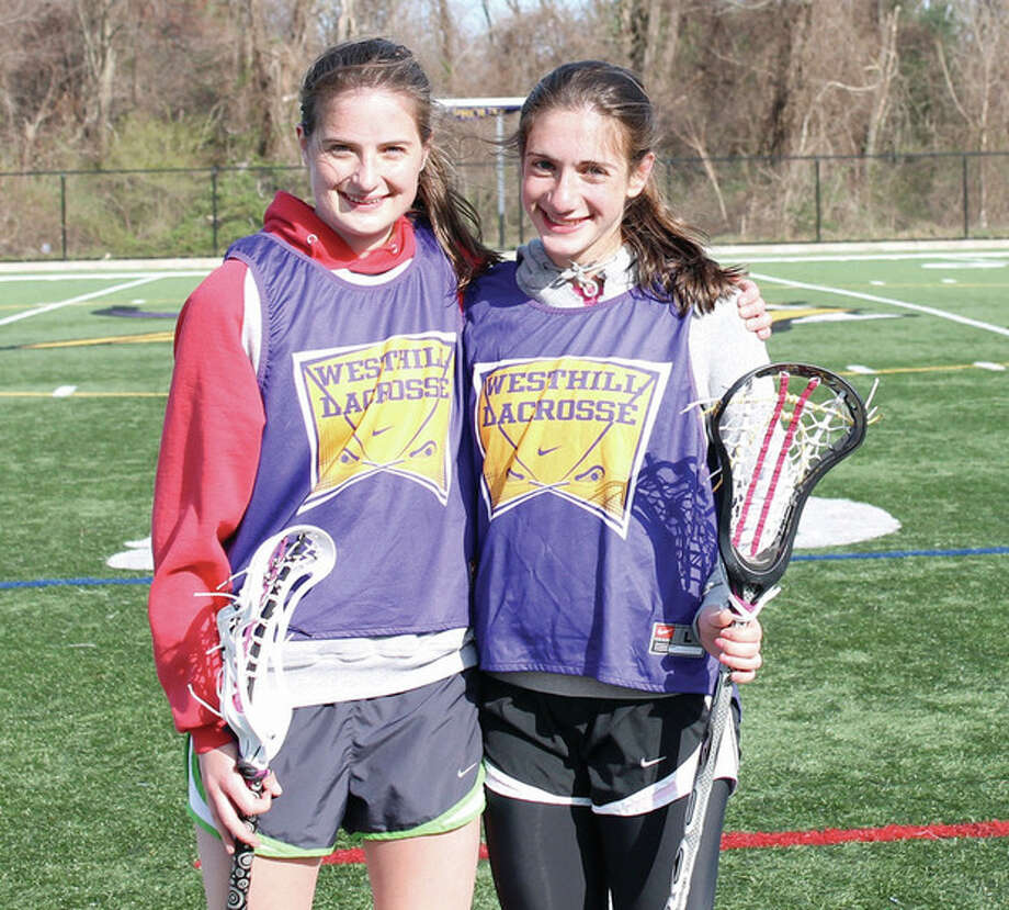 Photo by Joe RyanWesthill High girls lacrosse co-captains, from left, Nikita Sturrock and Jessi Gerowitz.