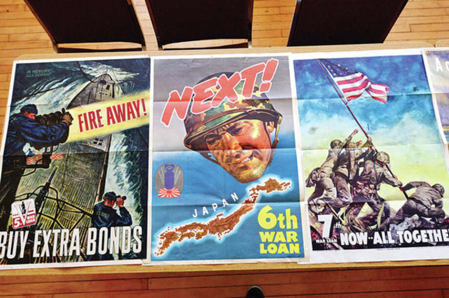 Hundreds of magazines, newspapers, photos and propaganda from the World War II era on display at theGeorgetown Community Association Center, wher many of the exhibitions are taken from area residents' personal collections.Hour photo / Erik Trautmann / (C)2012, The Hour Newspapers, all rights reserved