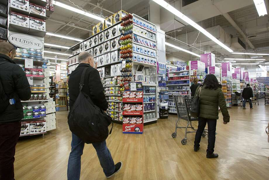 Shoppers like these in a Bed Bath & Beyond store in New York spent more in May. The Commerce Department said sales were up 0.5 percent last month. Photo: Mark Lennihan, Associated Press