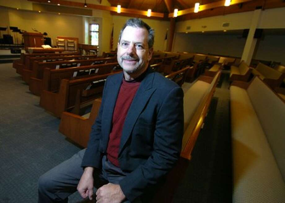 Photo/Alex von Kleydorff. Pastor Dave Gish in the Sanctuary at Hope Church in Wilton