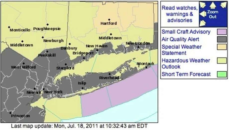 Air quality alert issued with hazardous weather to come later today