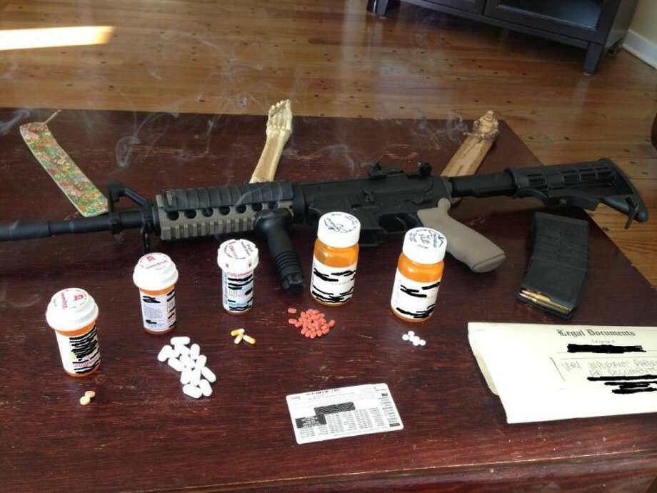 Contraband confiscated by Wilton Police Department