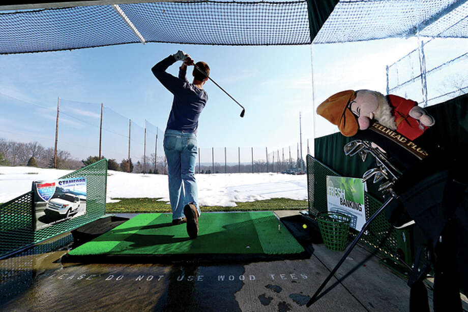 Bill Jaroszynski has been attending Sterling Farms Golf Club driving range in Stamford every week for 16 years. Oak Hills Golf Club in Norwalk looks to build it's own driving range amidst controversy. Hour photo / Erik Trautmann / (C)2012, The Hour Newspapers, all rights reserved