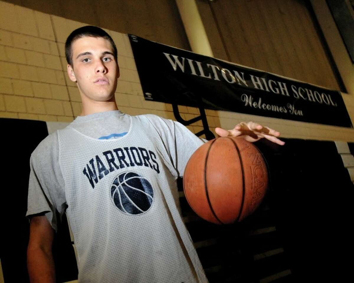 Wilton high School boys basketball MVP, Chris Nugent. hour photo/Matthew Vinci