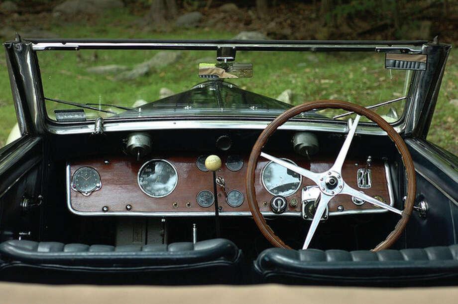 Hour Photo/ Alex von Kleydorff. Alden Shermans 1938 Bugatti Type 57, he will enter in this weekend's Fairfield County Concours d'Elegance in Westport / 2011 The Hour Newspapers/ Alex von Kleydorff