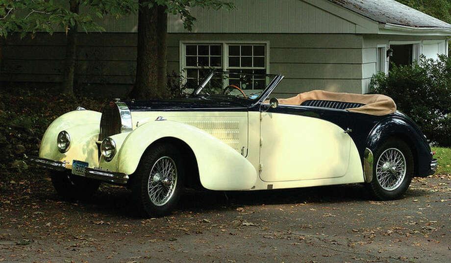 Hour Photo/ Alex von Kleydorff. Alden Shermans 1938 Type 57 Bugatti / 2011 The Hour Newspapers/ Alex von Kleydorff