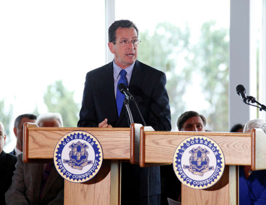 Governor Dannel P. Malloy speaks during the Connecticut Remembers Steptember 11th Memorial Service held at Sherwood Island State Park Thursday evening.