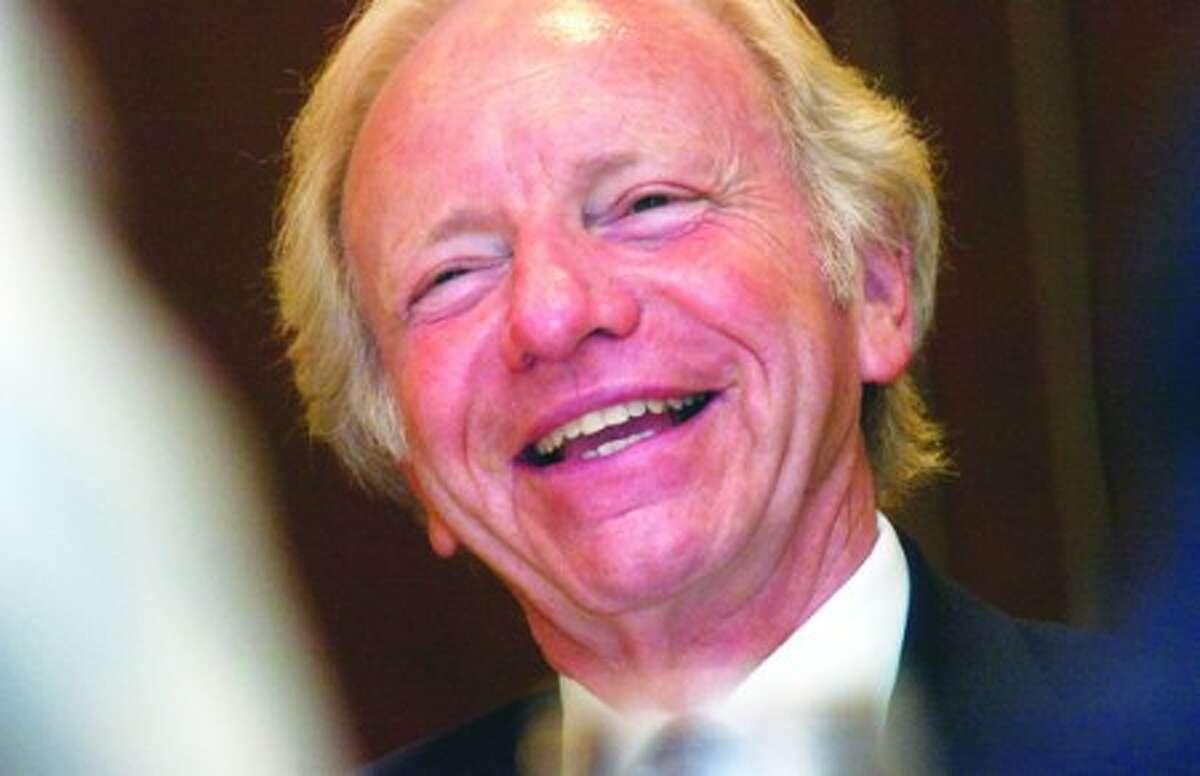 Photo/Alex von Kleydorff. Sen. Joe Lieberman during a past Stamford Chamber of Commerce lunch.