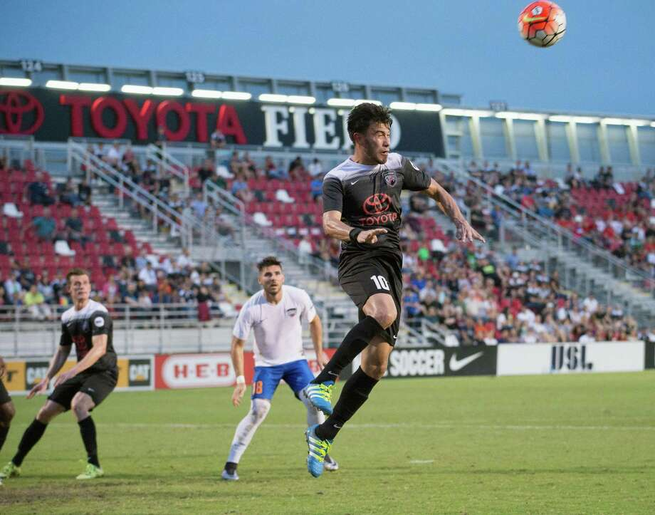 Action in the first half of a United Soccer League match between the Rio Grande Valley FC Toros (white jerseys) and San Antonio FC on May 25, 2016, at Toyota Field in San Antonio Photo: Darren Abate /USL / Darren Abate Media, LLC
