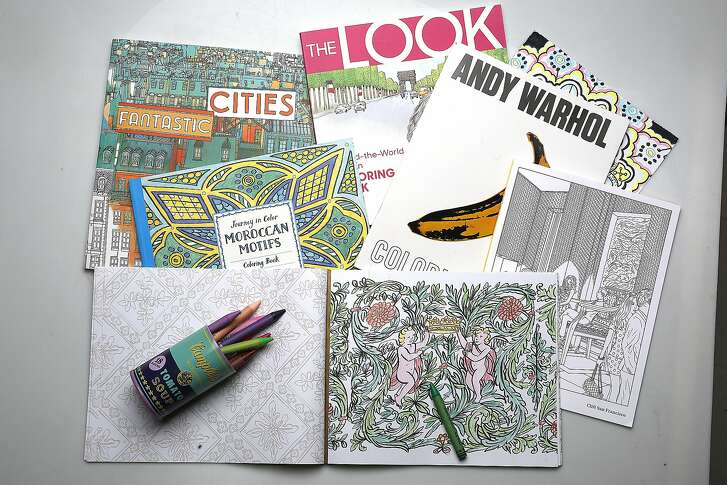 Adult coloring books seen on Monday, June 13, 2016 in San Francisco, Calif.