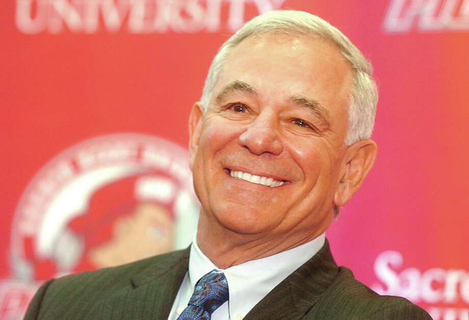 Hour Photo/ Alex von Kleydorff. Bobby Valentine is the new Executive Director of Intercollegiate Athletics at Sacred Heart University in Fairfield / 2013 The Hour Newspapers