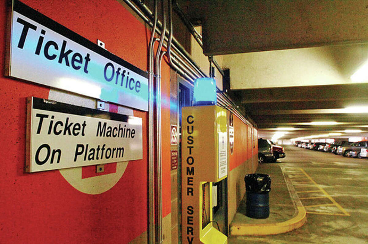 The South Norwalk train station. The Norwalk Parking Authority has had train station parking capacity issues which were addressed recently by State Senator Bob Duff. Hour photo / Erik Trautmann