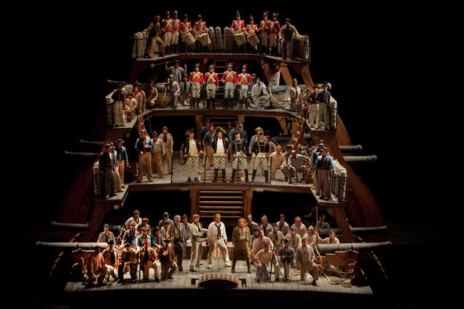 "Contributed photoA scene from Britten's ""Billy Budd"" during a rehearsal on April 27 at the Metropolitan Opera in New York City."