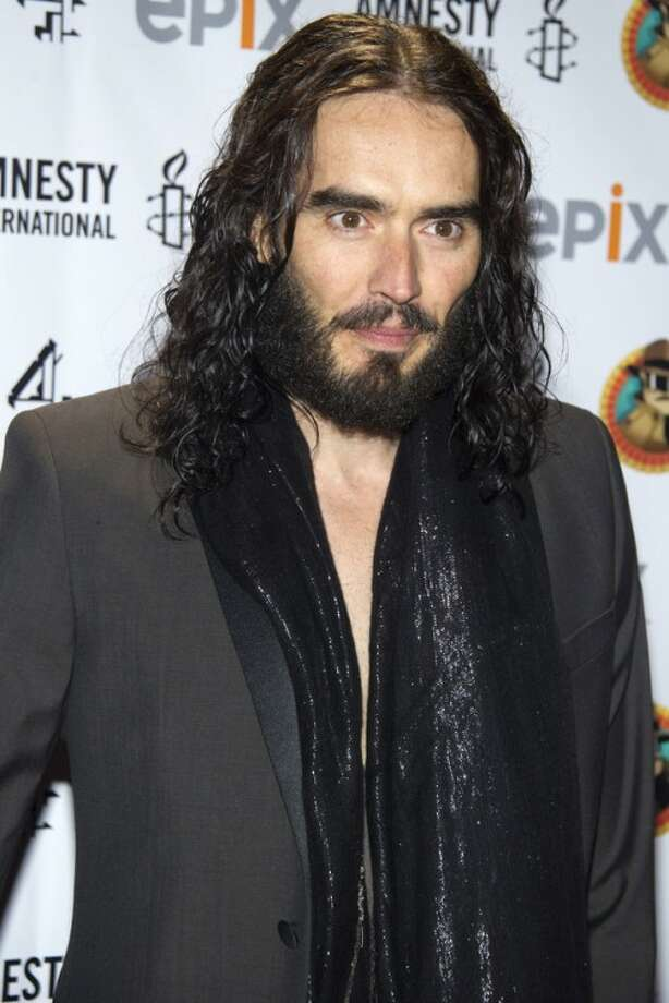 """AP PhotoIn this March 4, 2012, file photo, Russell Brand arrives to Amnesty International's """"Secret Policeman's Ball"""" in New York."""