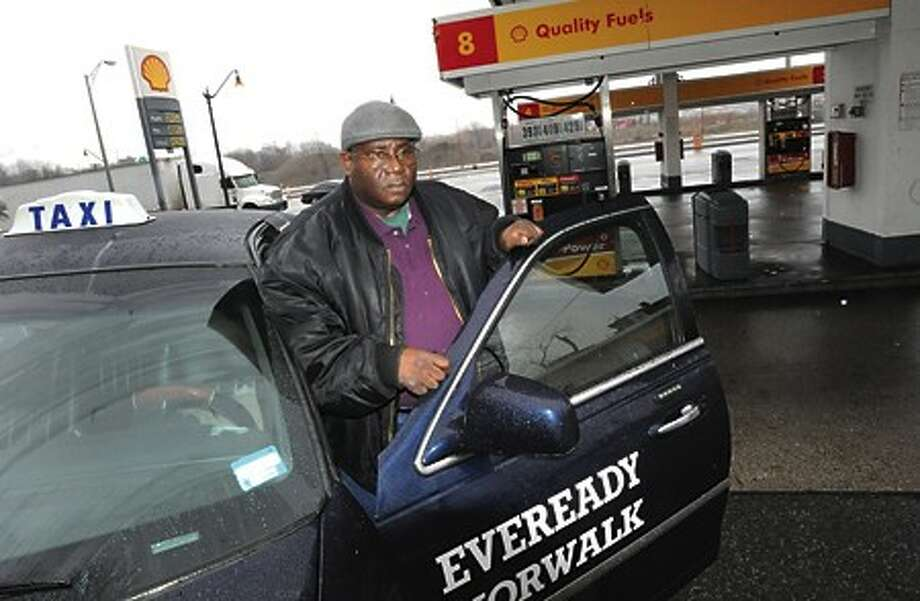 """Preston """"Shorty"""" McClain, a local cab driver speaks out on the rising gas prices and the impact on local drivers. hour photo/matthew vinci"""