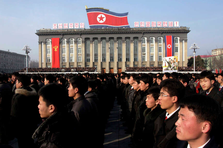 "North Koreans attend a rally in support of a statement given on Tuesday by a spokesman for the Supreme Command of the Korean People's Army vowing to cancel the 1953 cease-fire that ended the Korean War as well as boasting of the North's ownership of ""lighter and smaller nukes"" and its ability to execute ""surgical strikes"" meant to unify the divided Korean Peninsula, at Kim Il Sung Square in Pyongyang, North Korea, on Thursday, March 7, 2013. North Korea on Thursday vowed to launch a pre-emptive nuclear strike against the United States, amplifying its threatening rhetoric hours ahead of a vote by U.N. diplomats on whether to level new sanctions against Pyongyang for its recent nuclear test. (AP Photo/Jon Chol Jin) / AP"