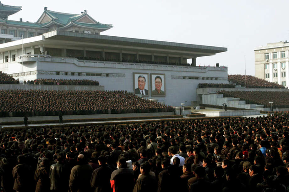 """North Koreans attend a rally in support of a statement given on Tuesday by a spokesman for the Supreme Command of the Korean People's Army vowing to cancel the 1953 cease-fire that ended the Korean War as well as boasting of the North's ownership of """"lighter and smaller nukes"""" and its ability to execute """"surgical strikes"""" meant to unify the divided Korean Peninsula, at Kim Il Sung Square in Pyongyang, North Korea, on Thursday, March 7, 2013. North Korea on Thursday vowed to launch a pre-emptive nuclear strike against the United States, amplifying its threatening rhetoric hours ahead of a vote by U.N. diplomats on whether to level new sanctions against Pyongyang for its recent nuclear test. (AP Photo/Jon Chol Jin) / AP"""