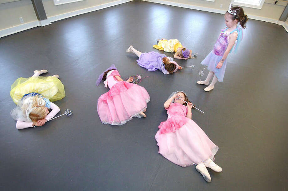 Hour Phopto/Alex von Kleydorff. Time to wake the sleeping princesses during a class at Wilton's Conservatory of Dance