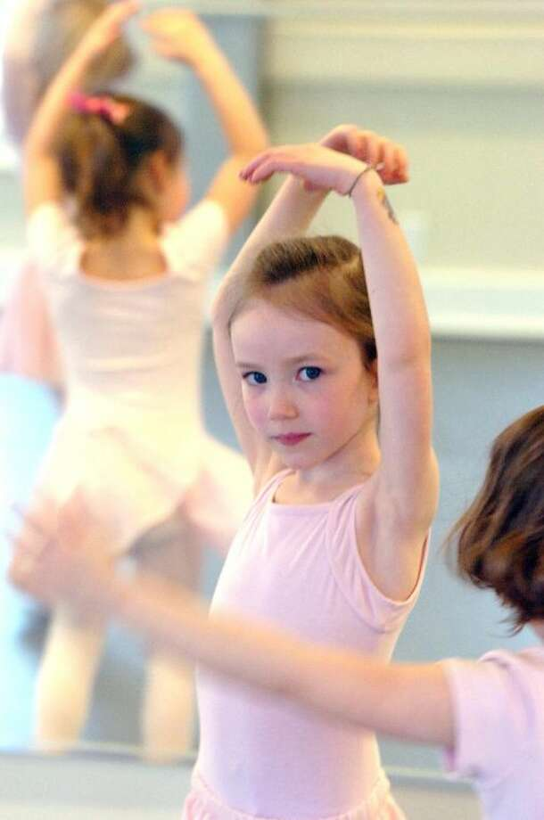 Hour Phopto/Alex von Kleydorff. Piper Dean in the Pre Ballet Tap Combo class at Conservatory of Dance in Wilton