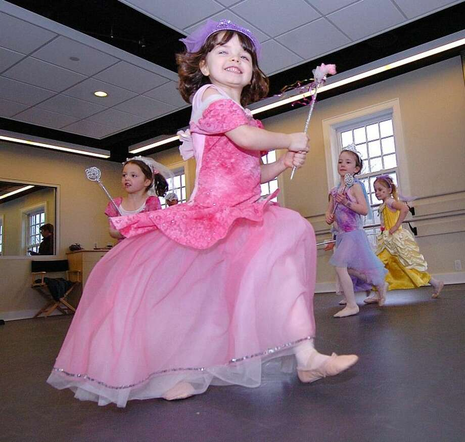 Hour Phopto/Alex von Kleydorff. Meira Flavin turns a circle at dance class at Conservatory of Dance in Wilton