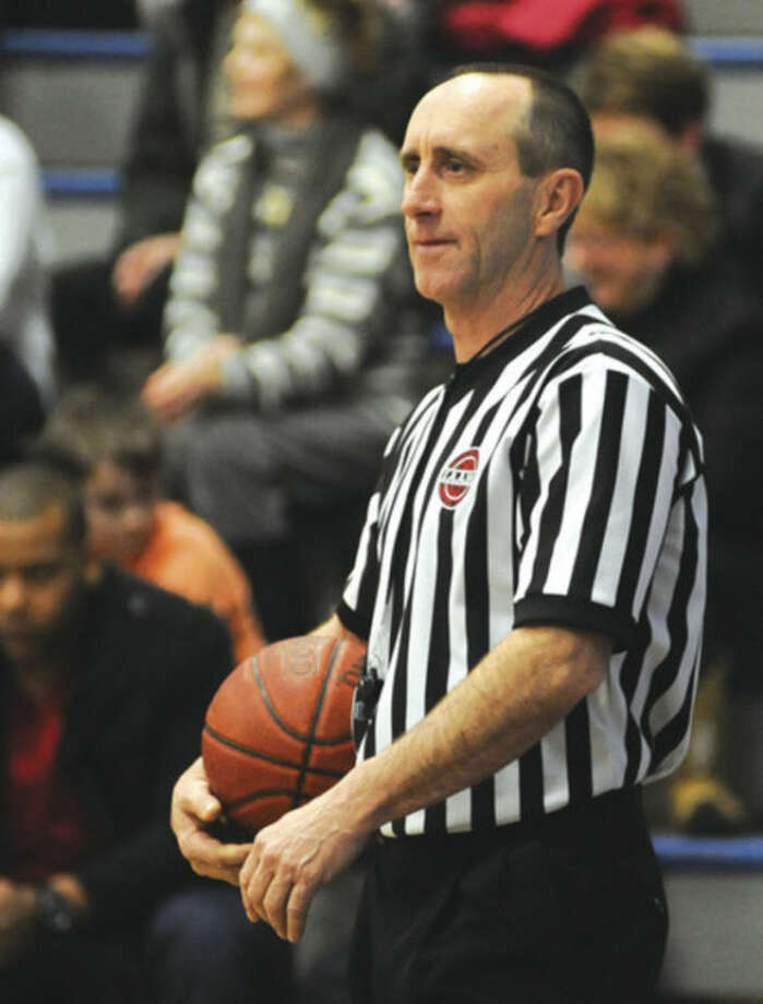 Hour photo/John NashIt takes a little effort to earn your stripes as a basketball official in this area. The Fairfield County Board of Approved Basketball Officials, or IAABO Board 9, provides a lot of education for those interested in becoming referees and those -- such as William Orr, above -- who are already entitled to wear the striped shirts.