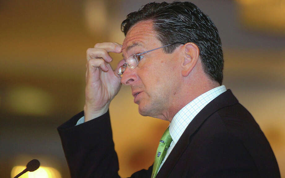 Photo by Alex von Kleydorff. Gov. Dannel Malloy speaks about the Connecticut economy at the 2011 Annual Meeting of The Business Council of Fairfield County in Stamford Monday. / 2011 The Hour Newspapers