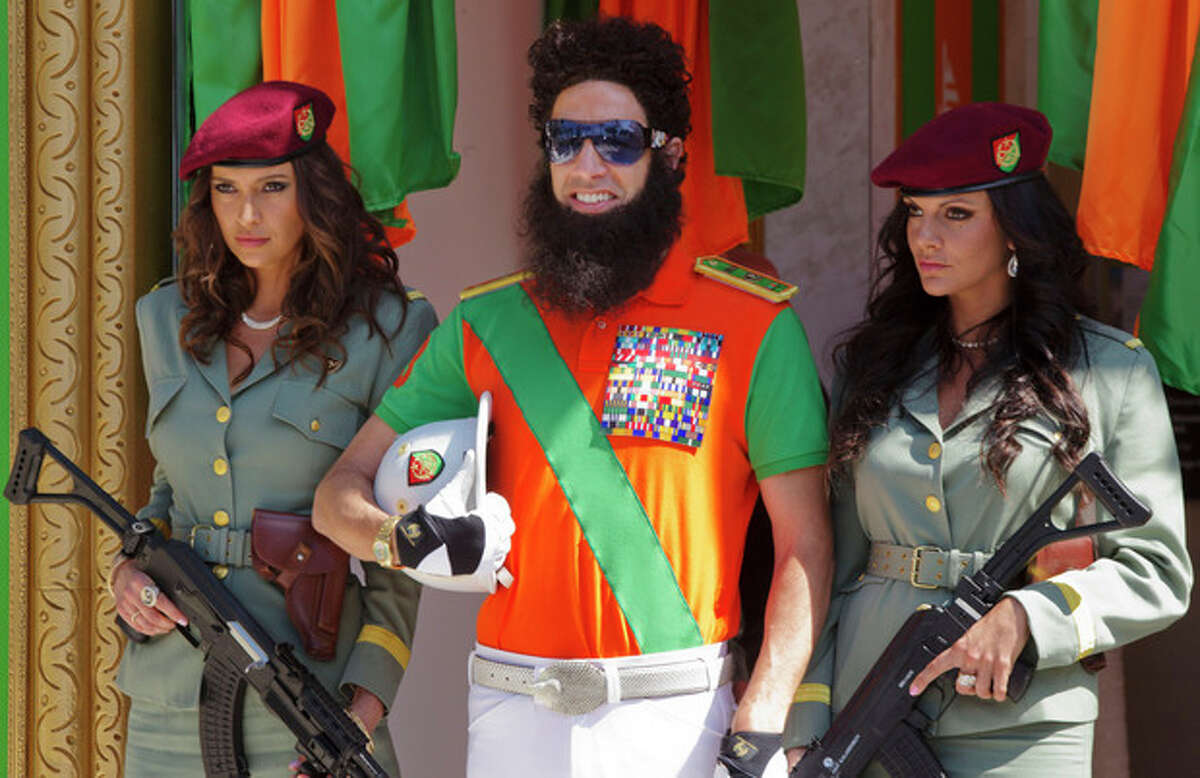Actor Sacha Baron Cohen poses during a photo call for The Dictator at the 65th international film festival, in Cannes, southern France, Wednesday, May 16, 2012. (AP Photo/Joel Ryan)