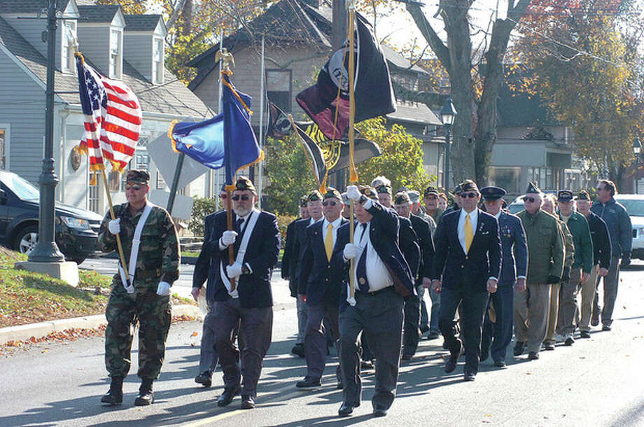 Hour Photo/ Alex von Kleydorff. Wilton Veterans Day parade / 2011 The Hour Newspapers