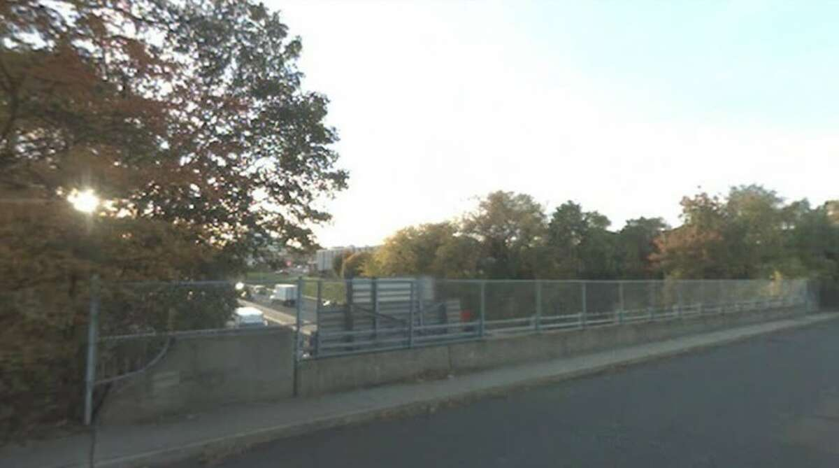 This image shows the bridge where the Stamford police officer fell from Wednesday night.