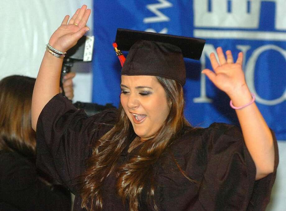 Hour Photo/ Alex von Kleydorff. Daniela Essa-Pares celebrates graduating at NCC