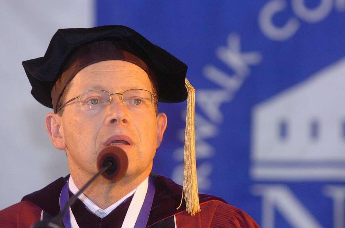Hour Photo/ Alex von Kleydorff. David Levinson Ph.D. graduates its NCC class of 2012 on Thursday