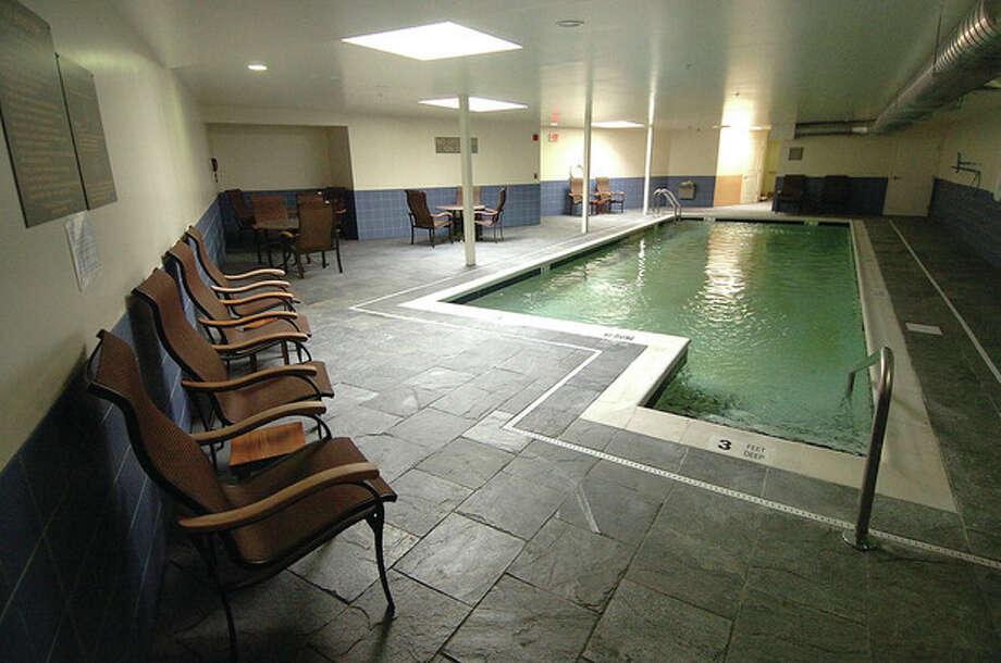 Hour Photo/ Alex von Kleydorff. The pool at the Westport Inn / 2011 The Hour Newspapers