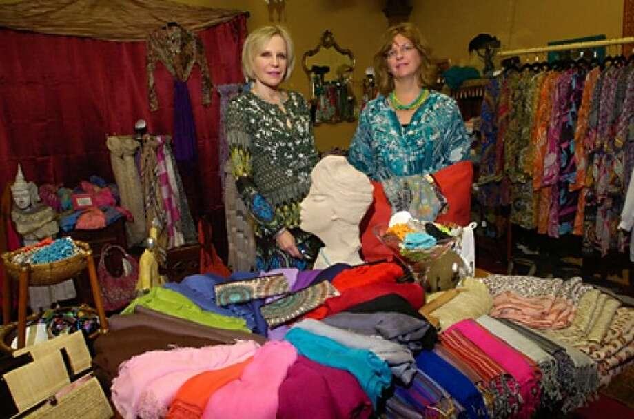 Bobbie Bensaid and Sandy Barnaba of Bula Bula Fashions boutique in Stamford. Hour photo / Erik Trautmann