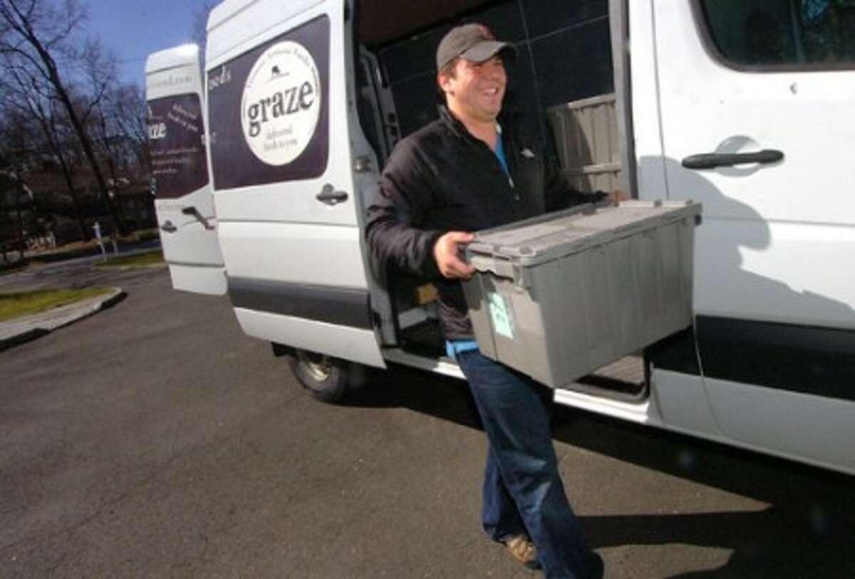 Photo/ Alex von Kleydorff. Graze deliveries are made by George Waterman.
