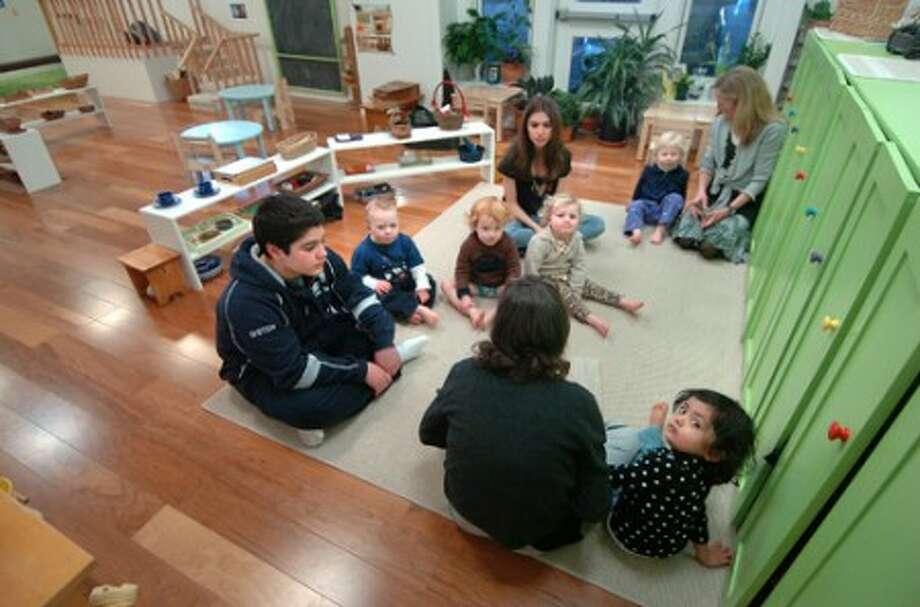 Photo/Alex von Kleydorff. The toddler program''s environment at Norwalk''s Montessori School.