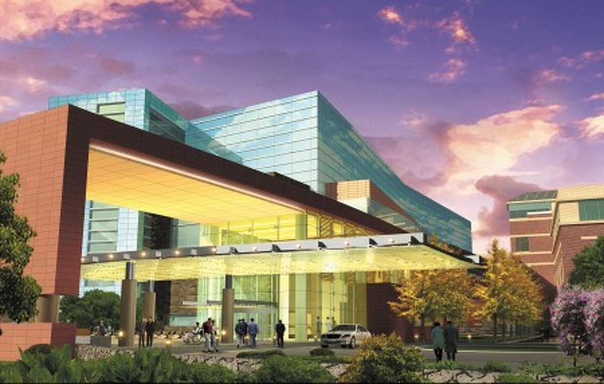A rendering of Stamford Hospital''s $575-million expansion project, which is expected to break ground in 2011. Contributed image.