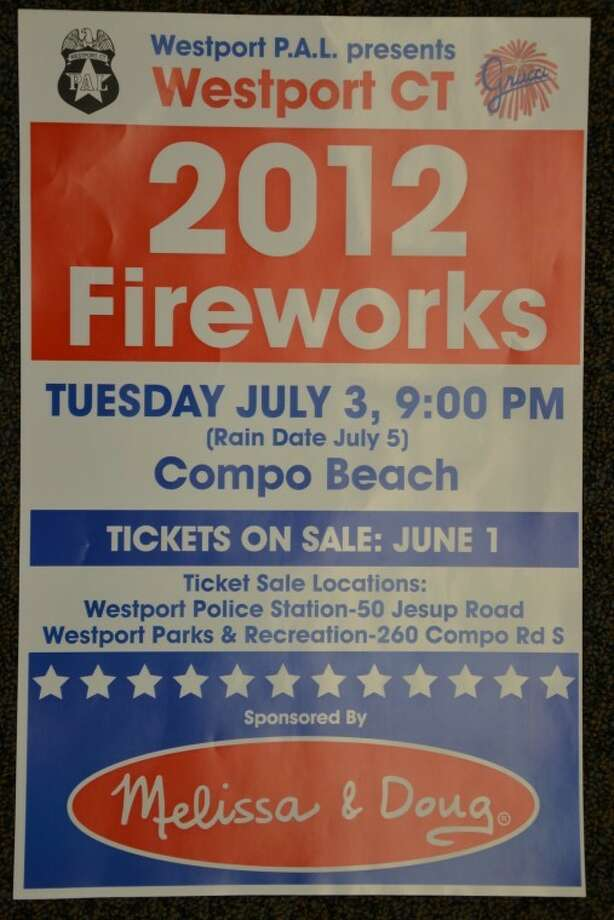 Westport PAL Fireworks Tuesday, July 3