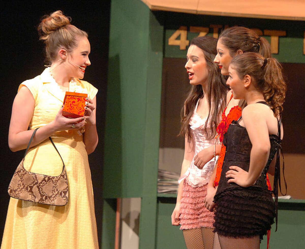Hour Photo/Alex von Kleydorff. Erin Vanelli as Adelaide in Guys and Dolls at BrienMcMahon High School