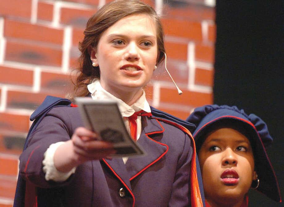 Hour Photo/Alex von Kleydorff. Olivia Begos as Sarah Brown in Guys and Dolls at Brien McMahon