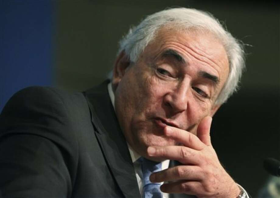 FILE - In this April 22, 2010 photo, IMF Managing Director Dominique Strauss-Kahn, speaks during a news briefing at the 2010 WB/IMF Spring Meetings in Washington. Strauss-Kahn has been taken into custody by New York City police and is being questioned in connection with a sexual assault of a hotel maid on Saturday, May 14, 2011. NYPD top spokesman Paul Browne says Dominique Strauss-Kahn was pulled off an Air France flight to Paris on Saturday afternoon at John F. Kennedy International Airport after he left the Manhattan hotel. Strauss-Kahn, the managing director of the IMF, has not been charged. (AP Photo/Manuel Balce Ceneta)